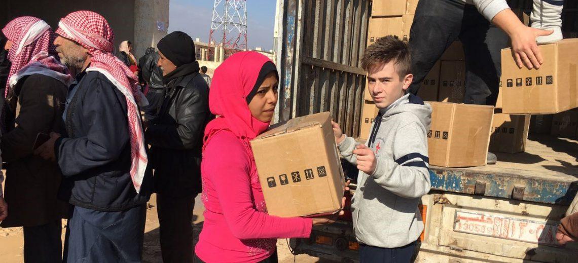 Aide d'urgence pour les populations déplacées d'Alep
